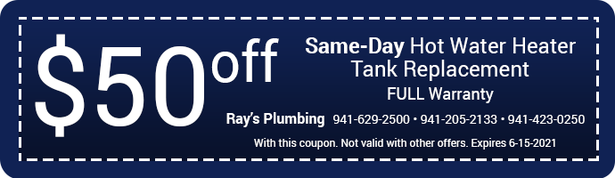 50 Dollars Off Same Day Water Heater Replacement Coupon