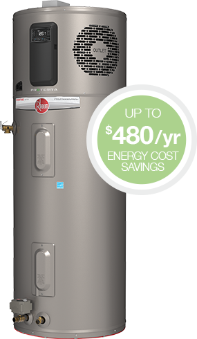 Rheem® ProTerra™ Hybrid Electric Water Heater - up to $480/year energy cost savings