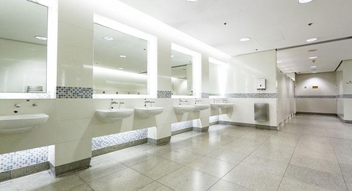 Commercial Plumbing - Public Restroom